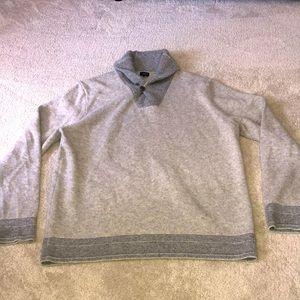 J. Crew Lambswool Sweater Men's XL Gray